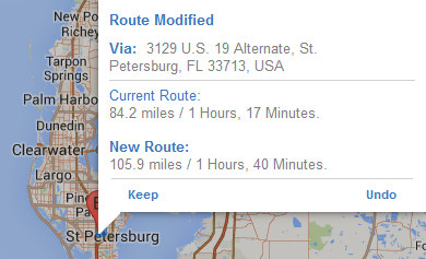 DIRECTIONS continued How do I... modify route points? You can also modify the route by moving the location pins for points of origin and destination, and any stopover.