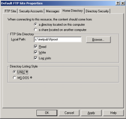 Setting up Internet Information Server (IIS) for FTP Services 1. Select [Start, Programs, Administrative Tools, Internet Services Manager]. 2. Expand Computer Name. 3.