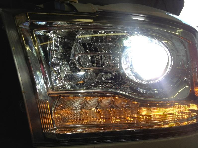 Note: This installation is designed for Ram trucks that use the factory projector headlights and 9012 style low beam bulbs.