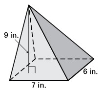 56) Find the volume of the right prism.
