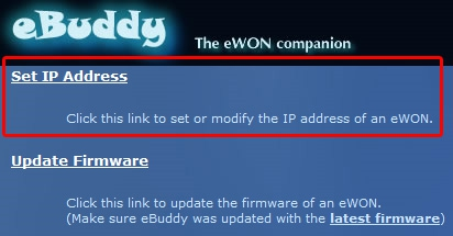 Chapter 2 Setting the ewon IP address process instead of reading it. 2.2. Process In our example, we will change the default factory address 10.0.0.53