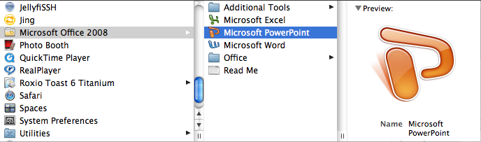 G E T T I N G S T A R T E D Microsoft PowerPoint is one of the most popular presentation programs supported by both Mac and PC platforms.