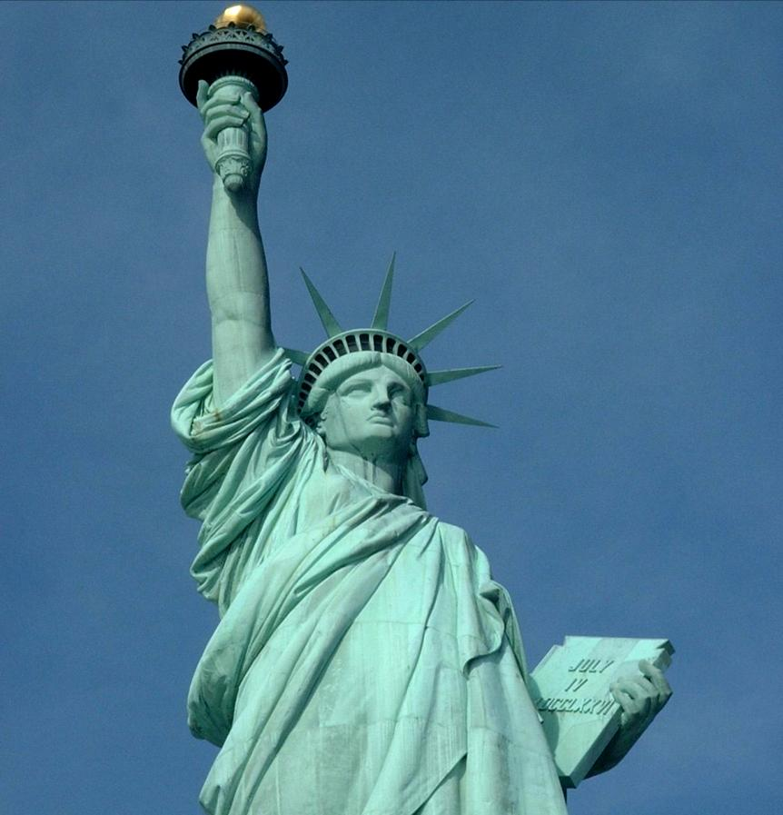 What does this statue symbolize about our country? Belief in freedom. Leon G.