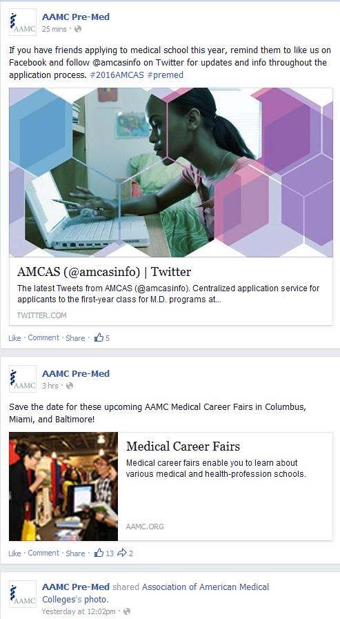AAMC Pre-Med Join the social conversation ask