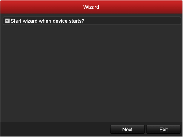 2.2 Using the Wizard for Basic Configuration By default, the Setup Wizard will start once the DVR has loaded, as shown in Figure 2. 3. 1.