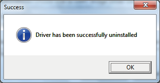 5. FOR YOUR REFERENCE Uninstalling the driver The displayed dialogue boxes or indications may differ slightly from the following instructions, depending on your system version and settings.