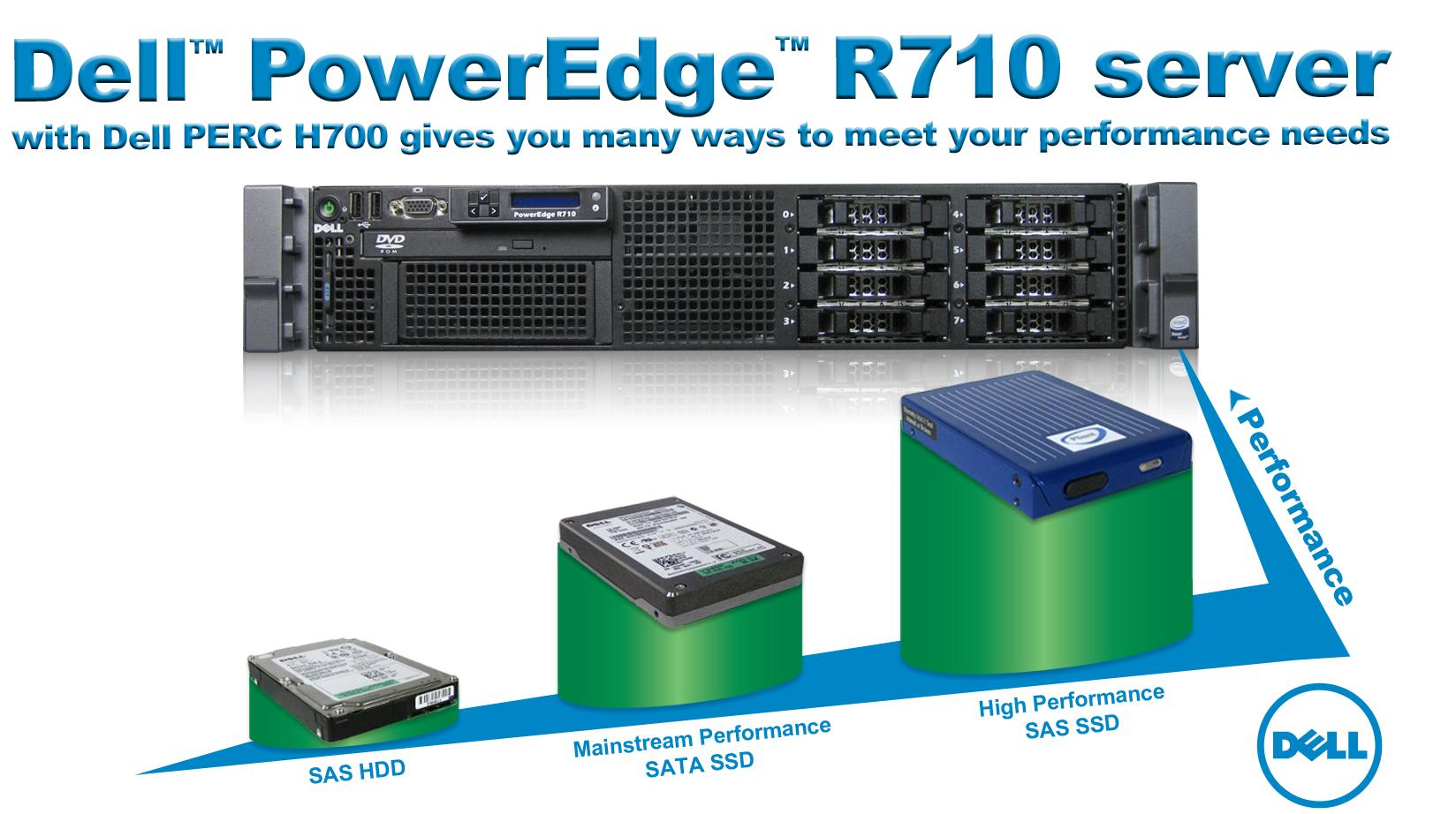 In Principled Technologies tests in our labs, we found that a company using the Dell PowerEdge R710 server with the PowerEdge RAID Controller (PERC) H700 can improve upon the performance of its six