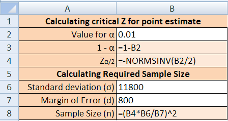 2 Excel Manual The example below uses the information in Example 8-1 on page 366 of your text, creating a confidence interval for estimating the mean cost of a college textbook: To enter the Greek