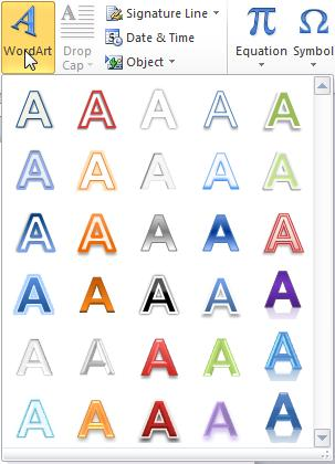 WordArt WordArt uses a feature common to many Microsoft Office applications so that it will work the same in other applications such as Excel and PowerPoint.