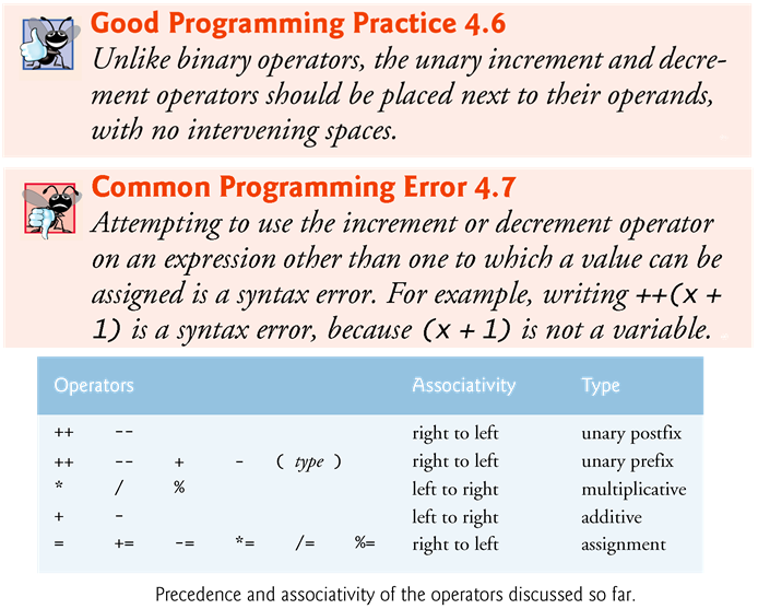 // Fig. 4.15: Increment.java; Prefix increment and postfix increment operators.