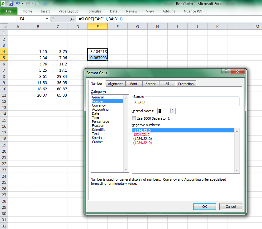 Select Format Cells A new menu will appear that will allow you to change how the numbers in the cells will appear.