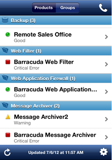 "View Demo Account If you want to ""test drive"" the Barracuda Networks ios Mobile App, tap View Demo Account ( ) to access a reduced set of features."