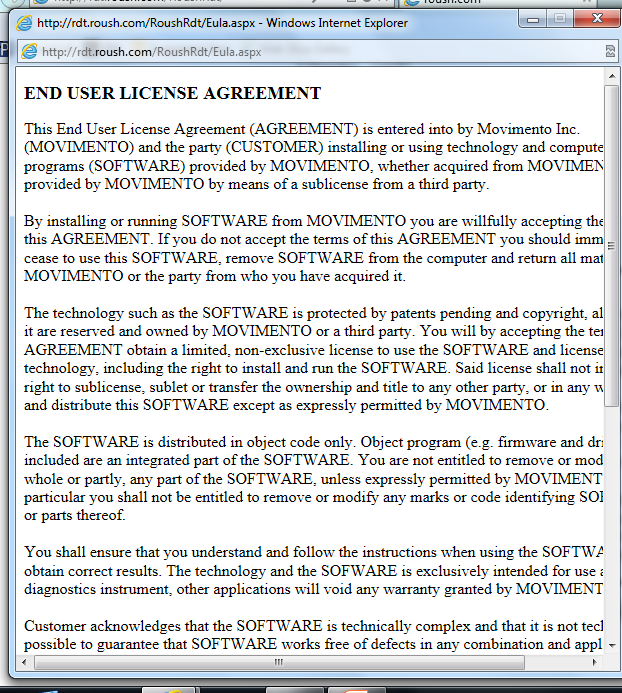 The END USER LICENSE AGREEEMENT window will pop up.