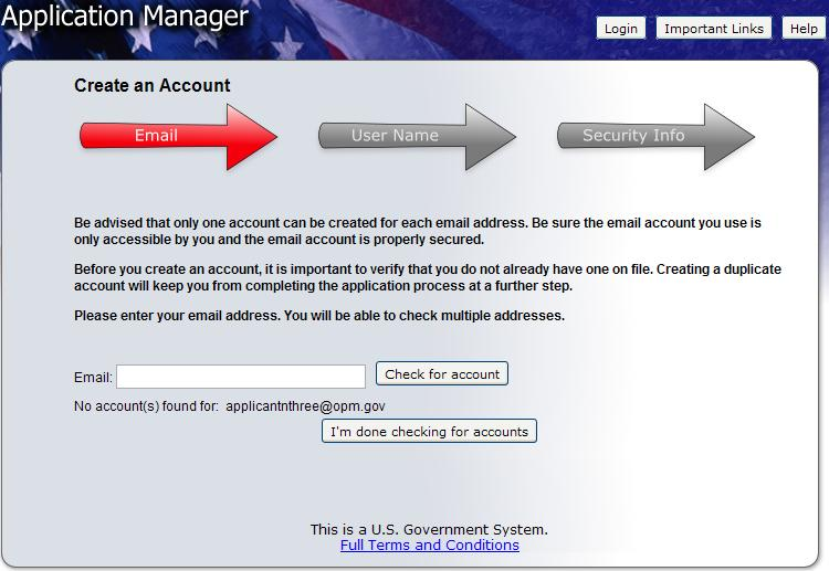 Create an Application Manager Account Follow the screen prompts to create an Application