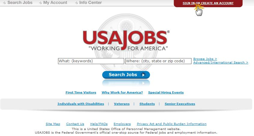 USAJOBS Main Page To apply for jobs you must have a USAJOBS account.