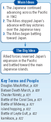 War in the Pacific Section 4 Page 820 Japan Advances (1): 1.