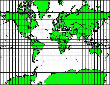 for world maps. Illustration 2: The Robinson projection is a compromise where distortions of area, angular conformity and distance are acceptable.