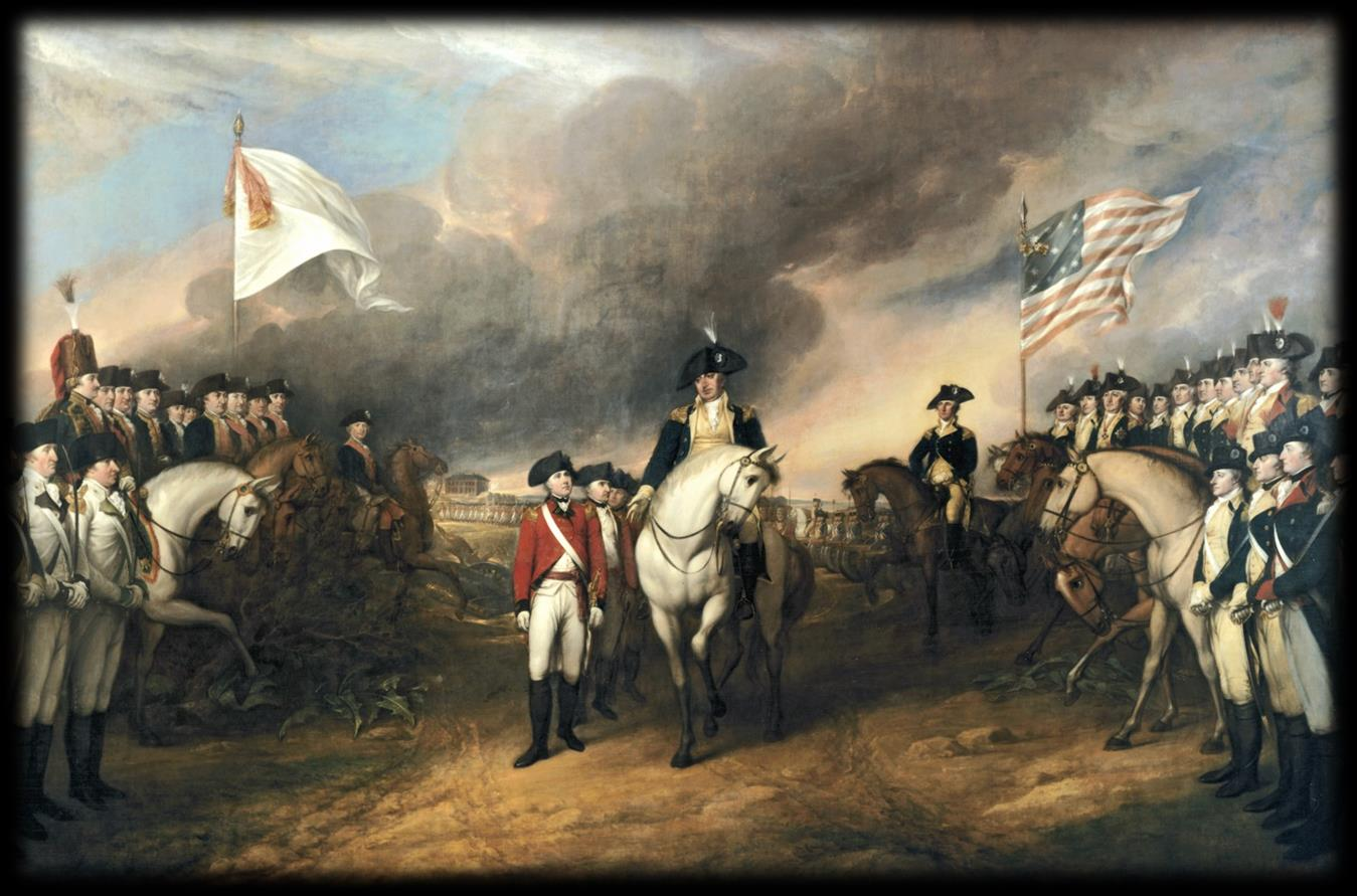 End of the War 1783 finally marked the end of the Revolutionary War. The British fell to the Patriots at Yorktown, Virginia, and surrendered their arms.