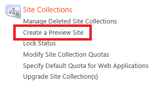 3. On the Site Collection Report page, find the site collection you want to preview by using either the Web Application menu or the URL