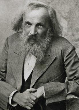 atomic mass Two elements in same box MENDELEEV: Arranged by atomic