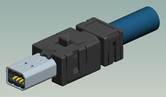 Plug cable connector assembly