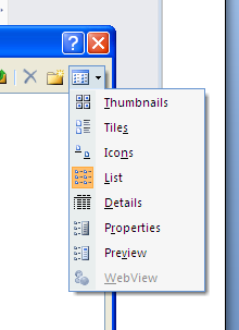 Using the Look in drop down list or the locations identified in the left hand panel of the dialogue box, navigate to the drive or folder where the document has been stored.