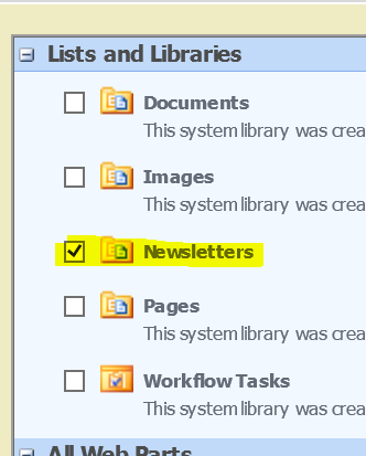 Adding the Document Library to a Page 1. Navigate to the page where the Document Library should be placed 2. Click the Site Actions button 3. Select Edit Page 4.