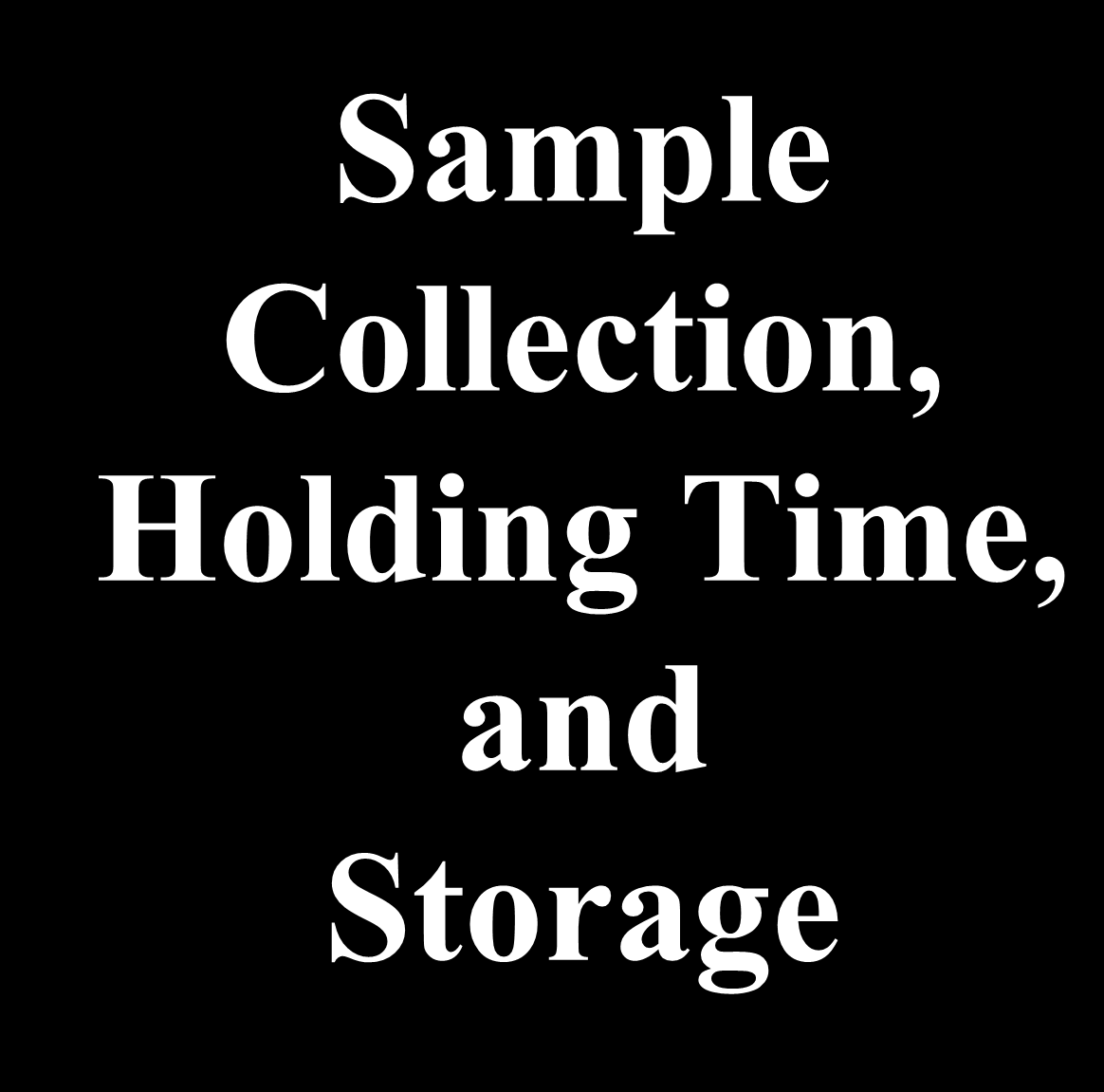 Sample Collection,