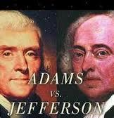 ELECTION OF 1800 FEDERALISTS- JOHN ADAMS DEMOCRATIC