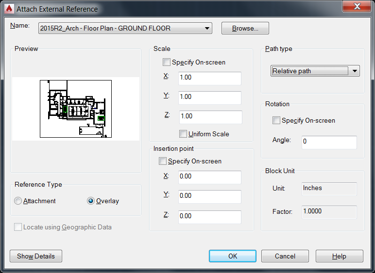 Step by Step: Exporting to AutoCAD and Relinking to Revit Be sure to use 0,0,0, not Specify