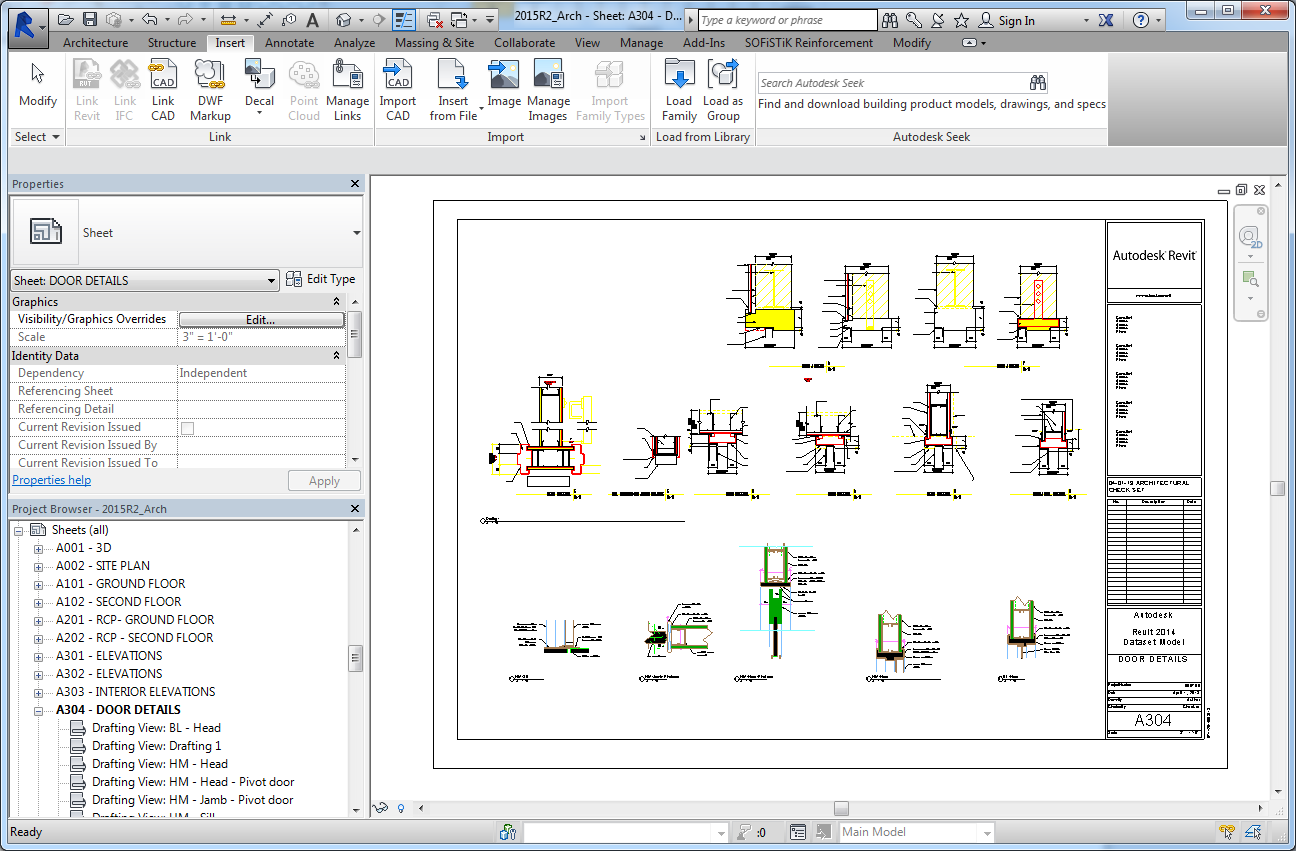 Step by Step: Linking DWG Details to Revit Place drafting views in the same way you would place any view created in
