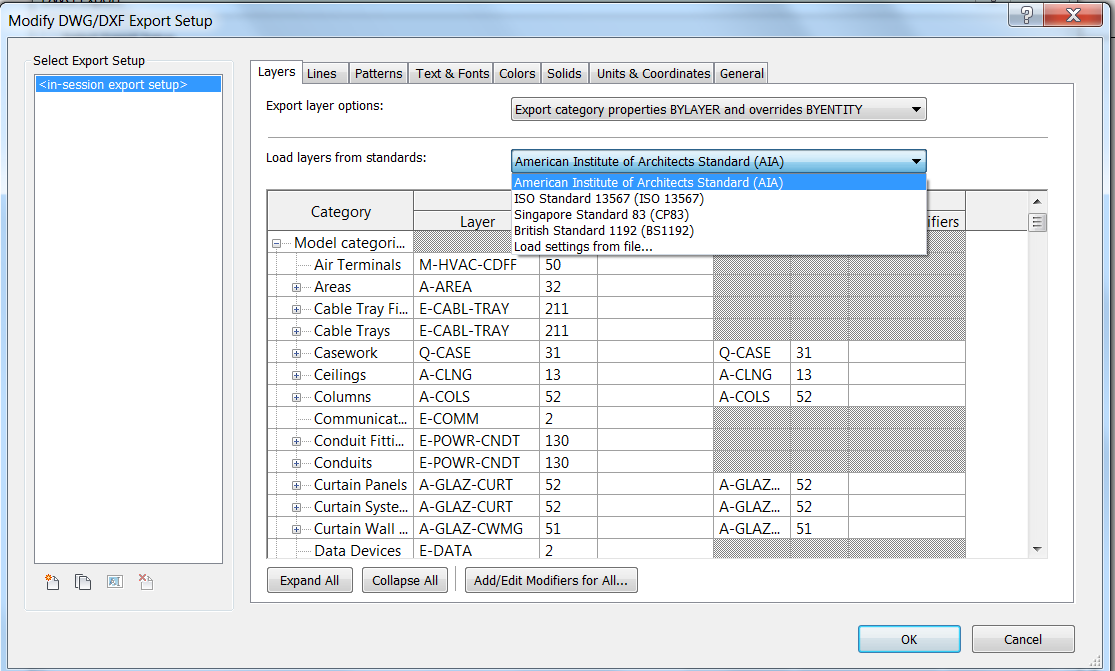 Preparing for Data Export Data Export Options The following options are available in the Export dialog box: Export Range: Select either the current view or a set of views/sheets.