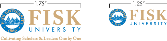 F I S K U N I V E R S I T Y B R A N D LOGO CLEARANCES Spacing The Fisk University logo requires clear space around all sides which should be free of imagery, graphics, folds or any other elements