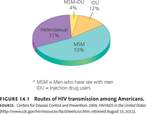 Routes of HIV Transmission among Americans 2013