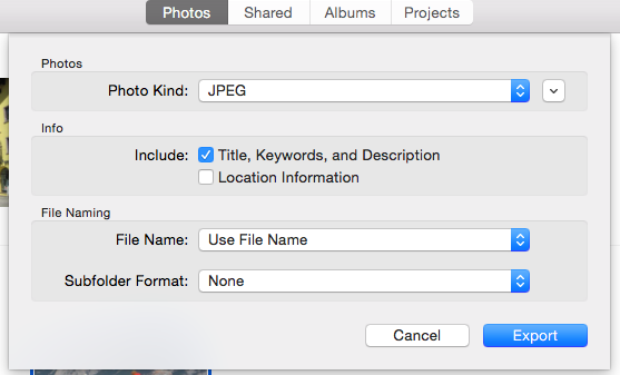3.) Saving your Photos To save your photographs as.