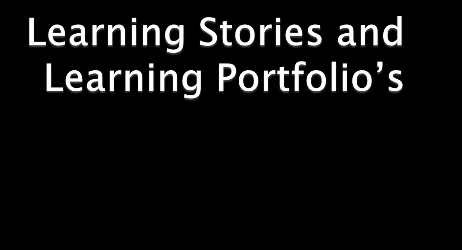 Portfolio s Learning Stories Samples Group