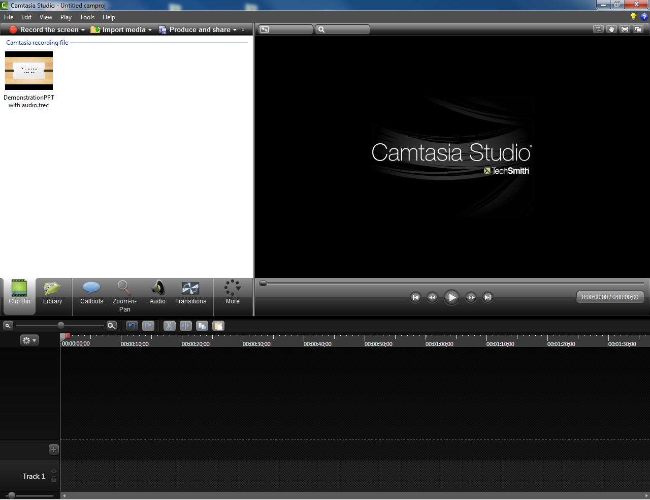 10. It is recommended that you return to your Camtasia screen (which should still be open) and save your project file.