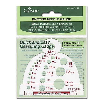 KNITTING ACCESSORIES 328 KNITTING REGISTER A convenient register that can be inserted onto a straight knitting needle.