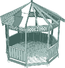I would like to build an octagonal gazebo for my back yard this summer, the plans I have call for the sides to be 2 m each, from the center of the gazebo to one of the sides measures 1.65 m.