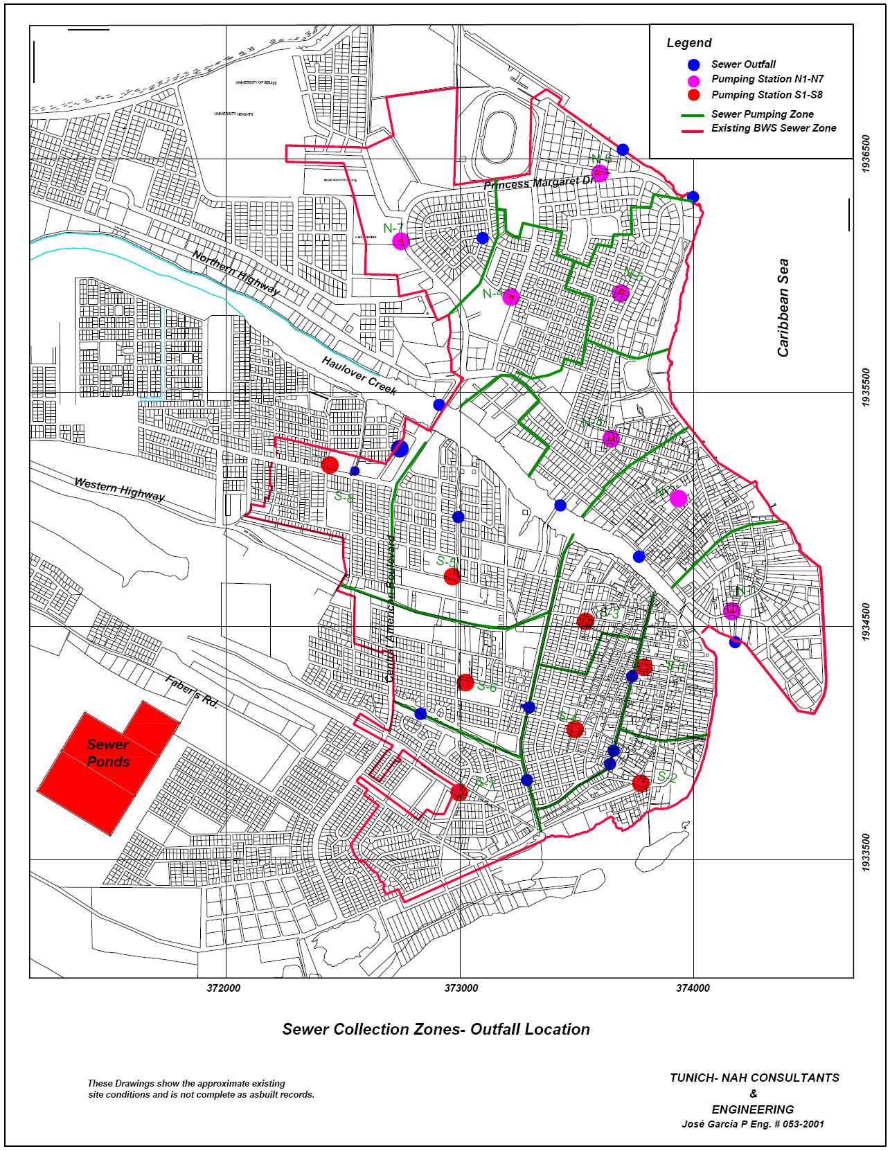 Figure 1-2 Sewer Zones and
