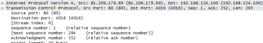 TCP Sequence and Acknowledge The Start at number is called Sequence Number The Got it number is