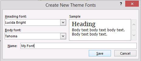 On the top left of the ribbon, you will have a number of Themes (the background and font style of your slide presentation).