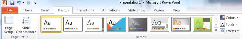 The New presentation pane is displayed on the right side of the screen. 2.