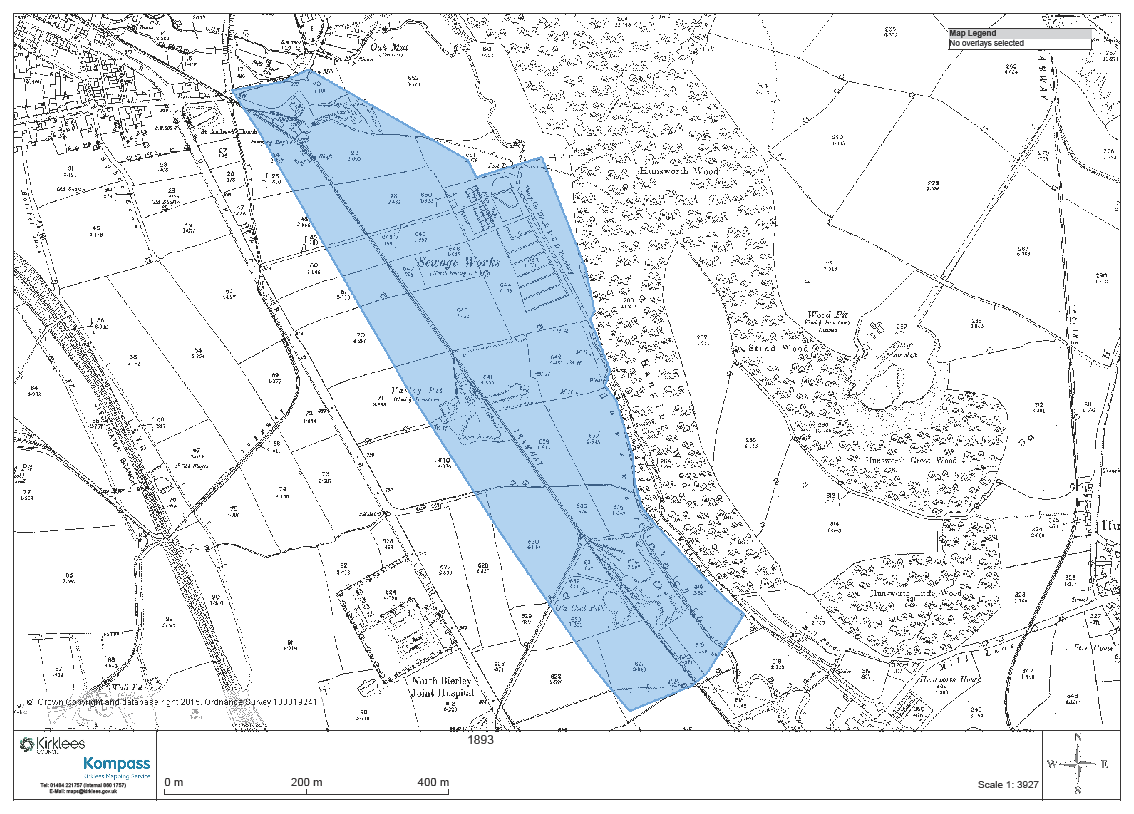 Historic Plan Former North Bierley Waste Water