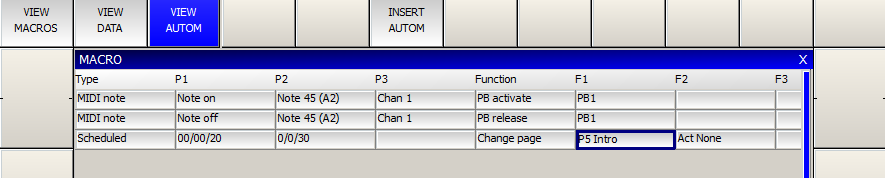 MagicQ User Manual 149 / 342 Chapter 21 Automation 21.1 MagicQ Automation Window MagicQ supports an automation system to enable it to automatically respond to both external, internal and timed events.