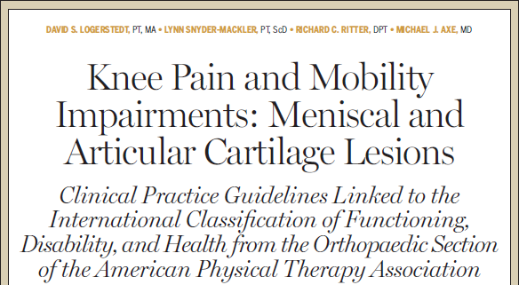 Immediate vs delayed mobilization Clinicians should consider the use of immediate mobilization following ACL reconstruction to increase range of motion, reduce pain, and limit adverse changes to soft