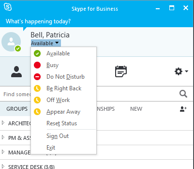 Populating Your Contact List When you first start to use Skype for Business, you will not have any names in your contact list to send messages to.