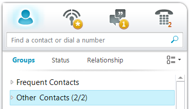 If you choose 'OK', the contact will be saved to your 'Other Contacts' group If you choose 'Cancel' the contact will not be 'tagged' If you check the box that reads 'Do not show this message again'