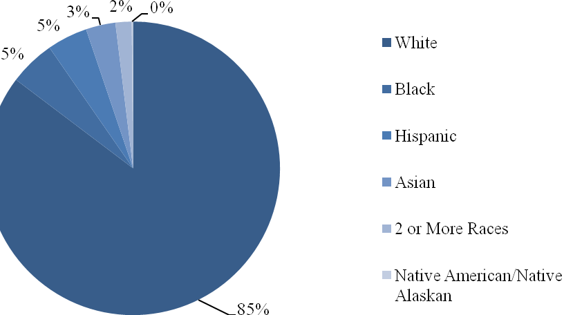 18 Figure 2. Racial demographics for the school in Northwest Arkansas. Participants This study was conducted in an eighth-grade reading intervention classroom consisting of 8 students.