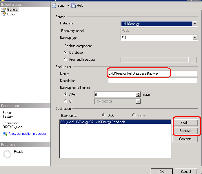 3. Right-click on your database name and choose Tasks. 4. Choose Backup. 5. Verify the backup location and name.